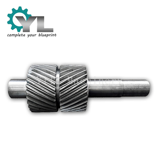 Forged Axle Double Helical Pinion With Small Space Transition
