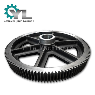 Elevator Forged Driven Gear Assembled With Cast Hub