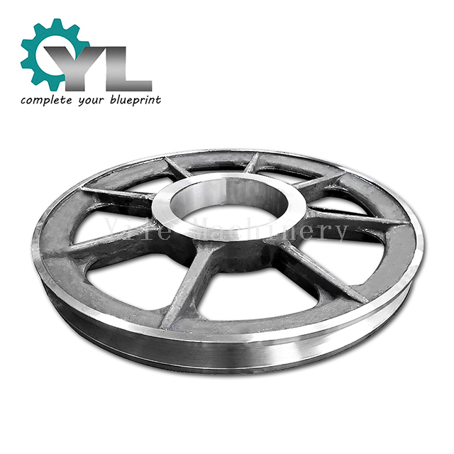 OEM Excavator V Groove Metal Wheel Large Diameter Metal Groove Pulley