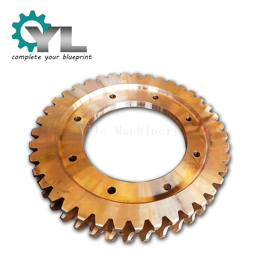High Precision Reducer Transmission Hobbing Gear Tin Brass Worm Wheel